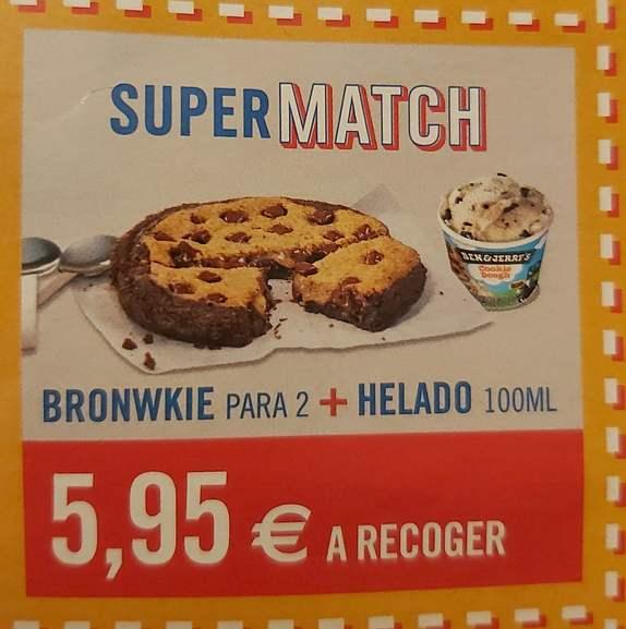 Bronwkie para 2 + Helado Ben&Jerry por 5.95 euros a recoger