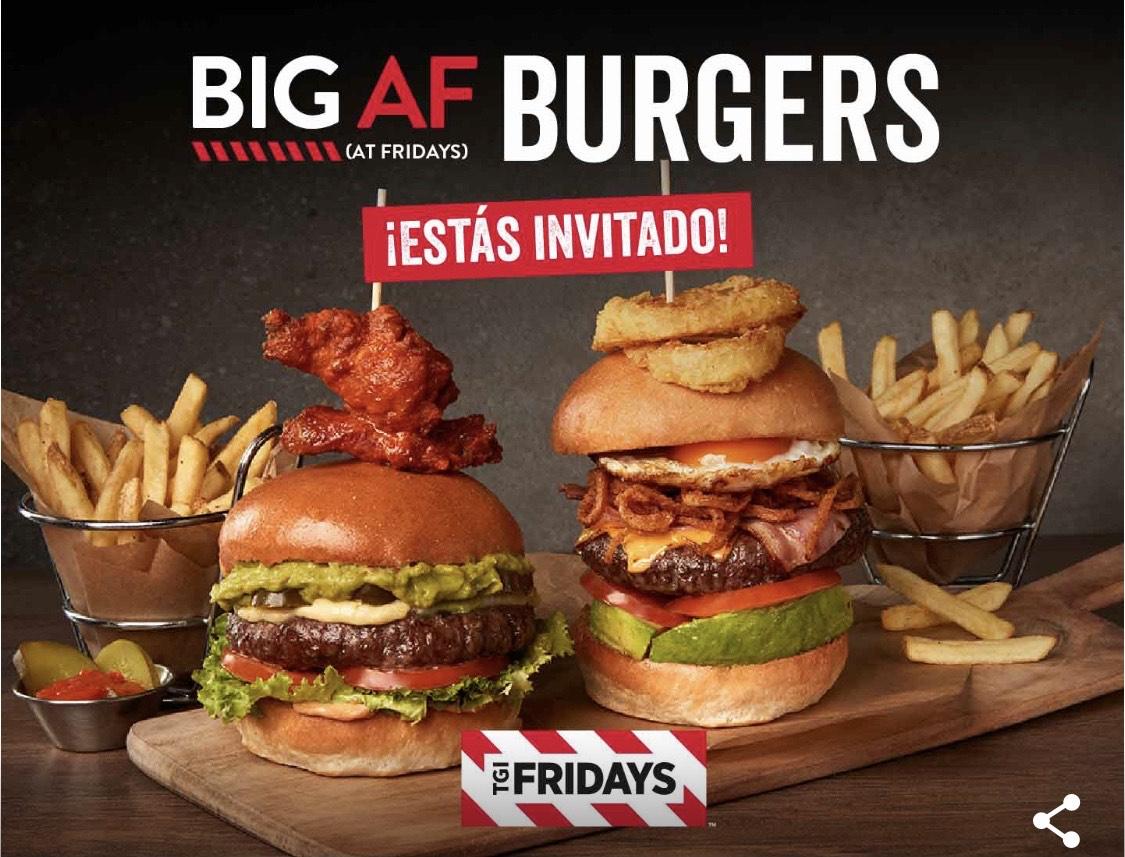 2x1 nuevas hamburguesas en Fridays