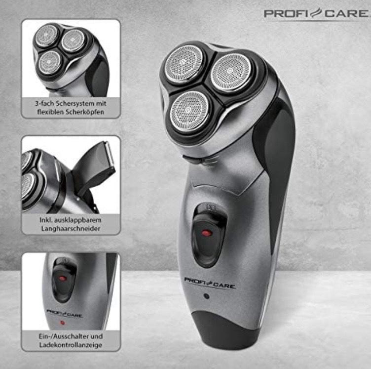 ProfiCare Afeitadora PC-HR 3053 para hombre, sistema de afeitado de 3 niveles con cabezales flexibles