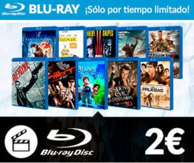 Películas Bluray por 2 euros en Game.