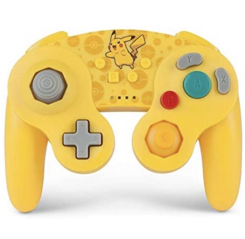 Pokémon Mando inalámbrico para Nintendo Switch - Estilo GameCube: Pikachu