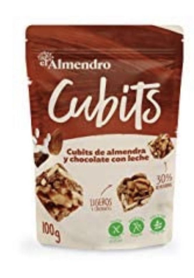 El Almendro - Cubits de Almendra y Chocolate con Leche 100 gr - Sin Gluten - Sin Aceite de Palma