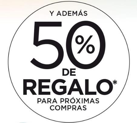 50% de regalo en próximas compras en selección de productos de supermercado ECI