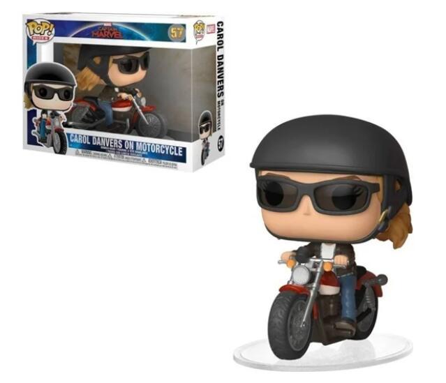 Figura FUNKO Pop Ride Marvel: Capitana Marvel Carol en moto. Worten.
