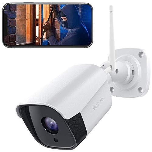 Cámara IP de Vigilancia WiFi Exterior con Detección de Sonido y Movimiento, Visión Nocturna