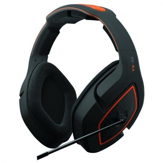 Gioteck TX-50 Auriculares Gaming Multiplataforma Negro/Naranja