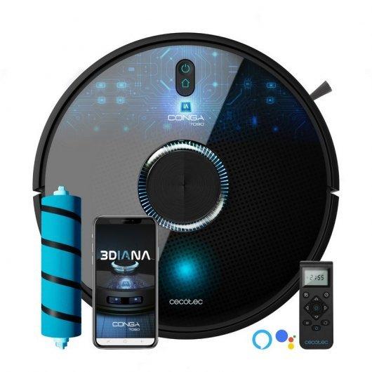Cecotec Conga 7090 IA Robot Aspirador con Inteligencia Artificial y Láser