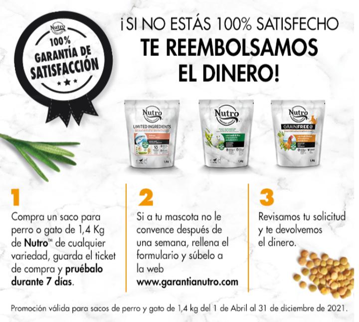 Reembolso alimento para mascotas NUTRO (600)
