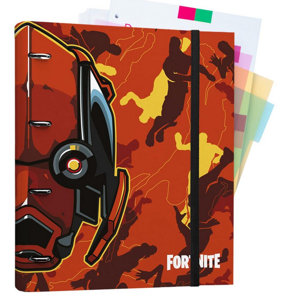 Carpeblock Anillas con 100 hojas 32x27 cm Fortnite y Carpeta Solapas Fortnite por sólo 1€ cada una.