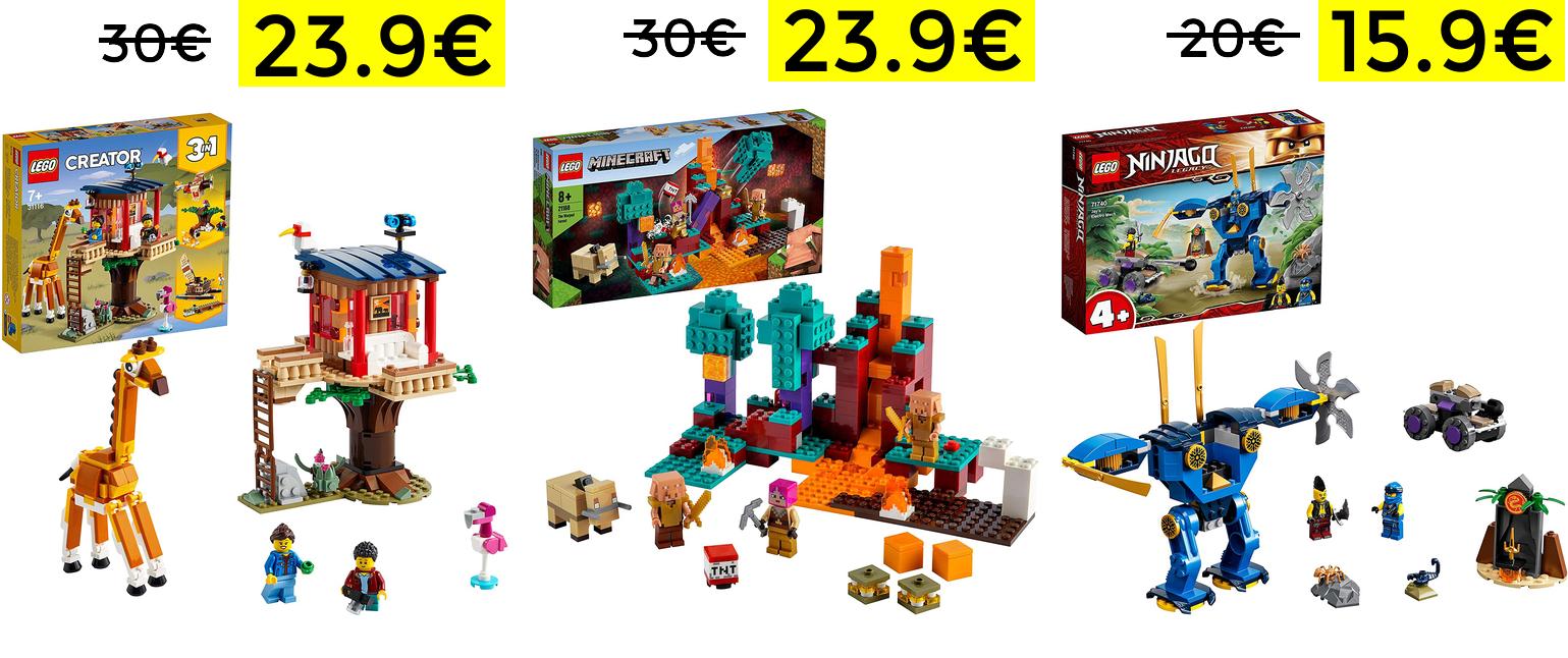Bajada de precio en LEGO Minecraft, Creator y NinjaGo