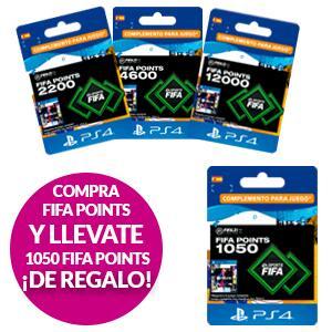Regalo de 1050 Fifa Points al comprar 2200 o más PS4 Y XBOX