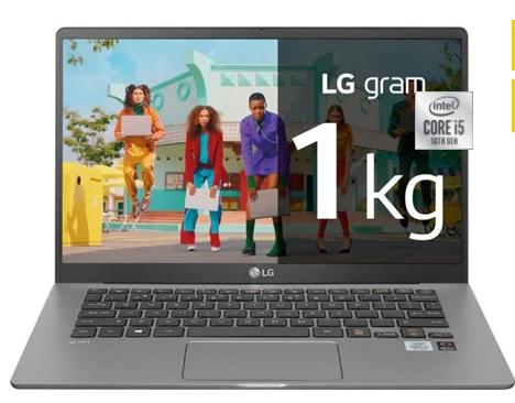 Portátil LG Gram 14Z90N-V.AR51B (14'' - Intel Core i5-1035G4 - RAM: 8 GB - 256 GB SSD - Intel Iris Plus Grpahics 655)
