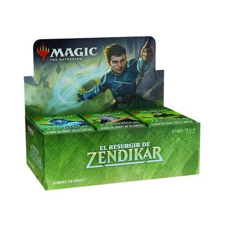 Caja de cartas magic ( 36 SOBRES ) EL RESURGIR DE ZENDIKAR