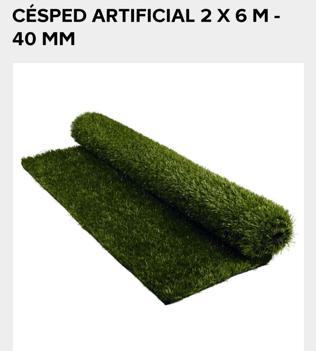 Cesped artificial 12 m2 (6x2) 40 mm en Bricodepot