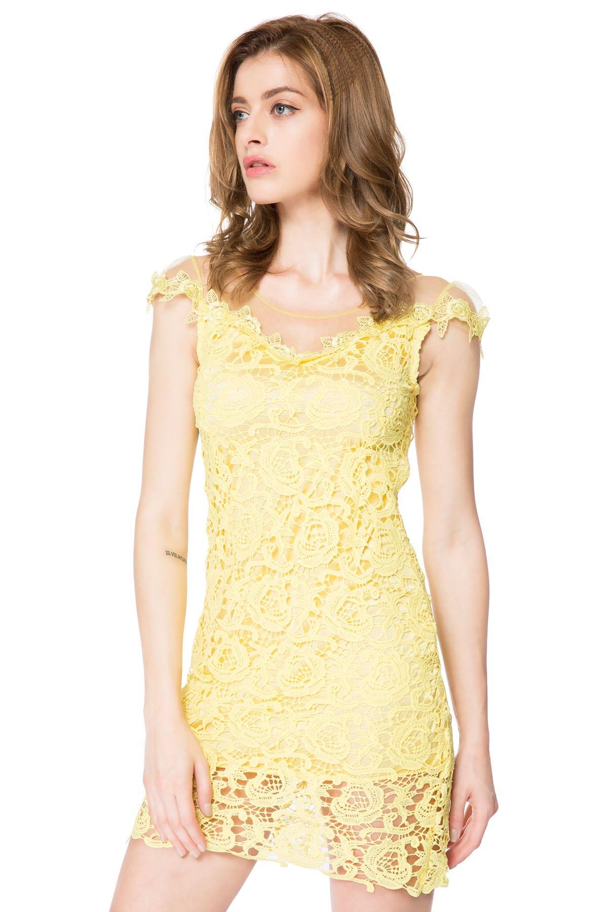 Vestido corto mujer amarilla por solo 5.18 EUR