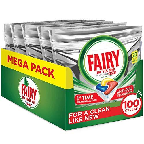 Fairy Platinum Plus Pastillas Lavavajillas, 100 cápsulas