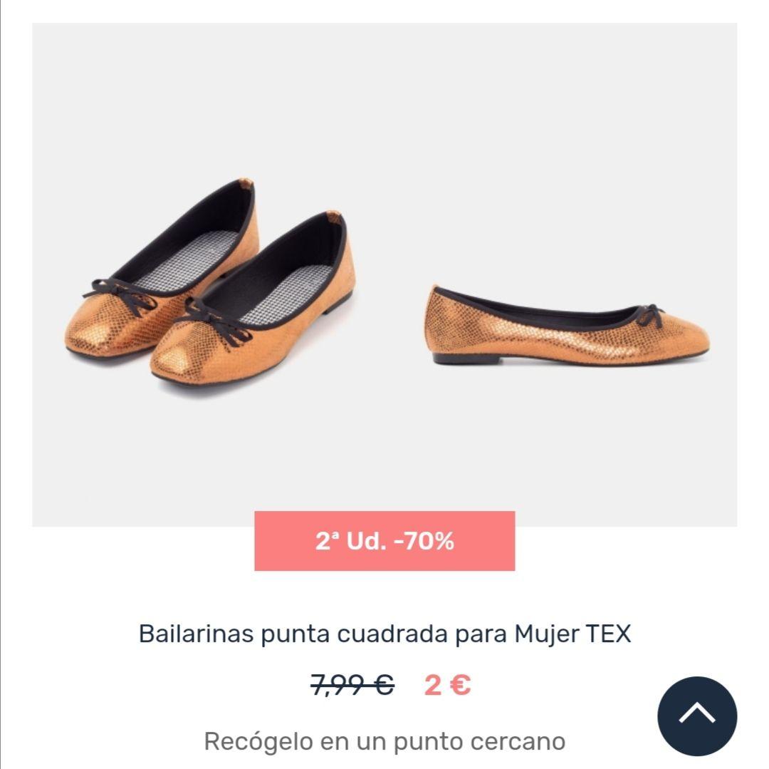 Bailarinas y zapatos de vestir (niños, hombre y mujer) de oferta y 2a unidad al 70%