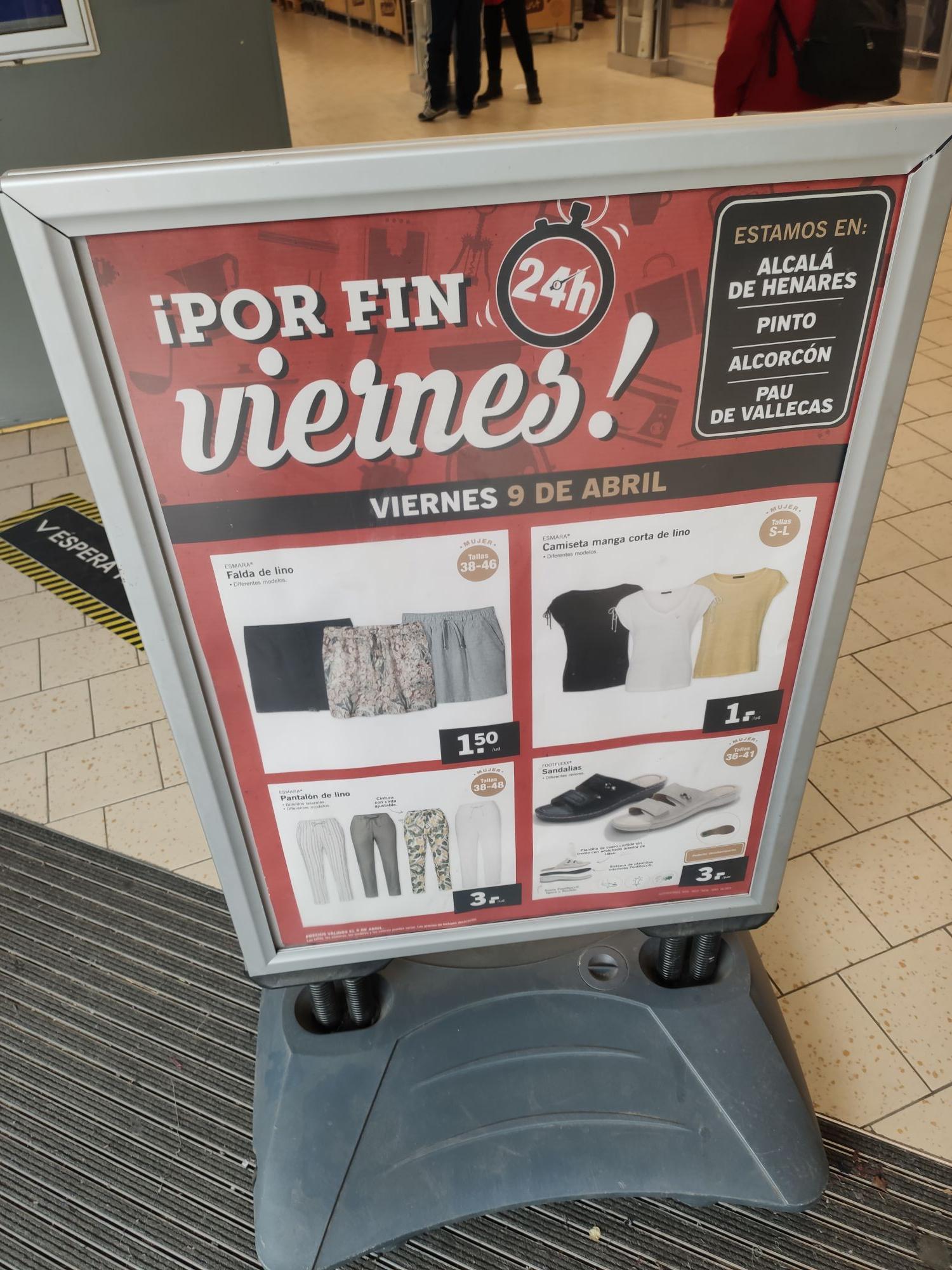 Ofertas a 1€ en Outlet del Lidl ensanche de Vallecas
