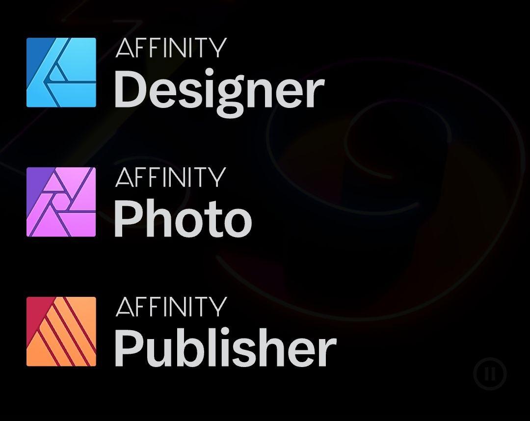 Programas Diseño Affinity casi al 50%