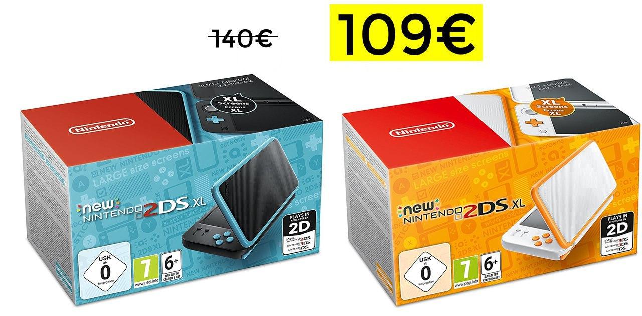 New Nintendo 2DS XL solo 109€