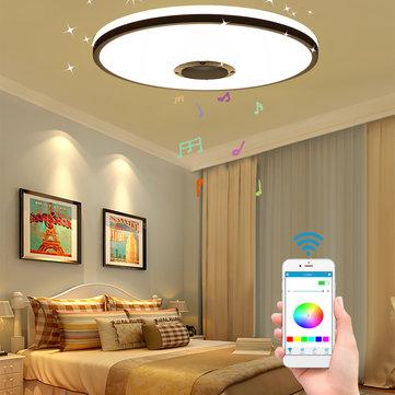 Luz de techo 60W LED inteligente Regulable RGB Bluetooth Música APP + Control remoto