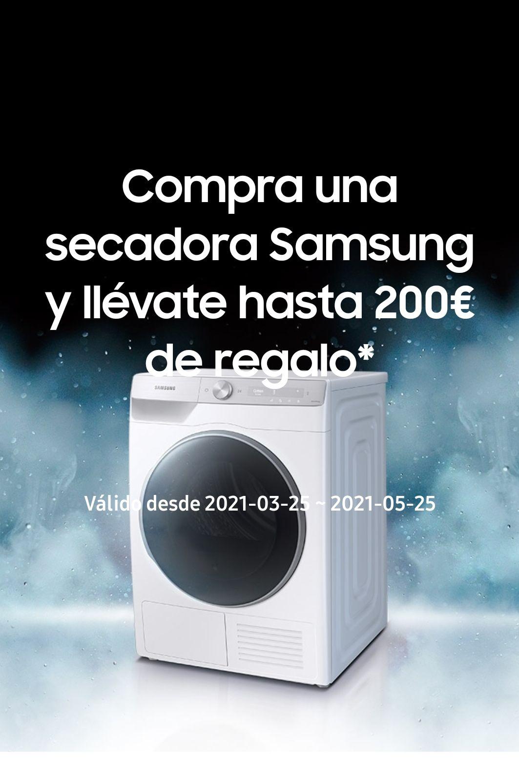 Hasta 200e de regalo por la compra de tu secadora Samsung