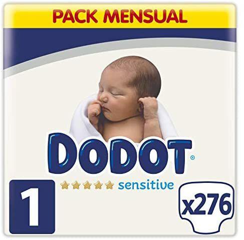 Dodot Pañales Bebé Sensitive Talla 1 (2-5 kg), 276 Pañales