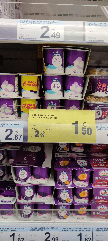 Yogur natural sin lactosa Kaiku 8x125gr