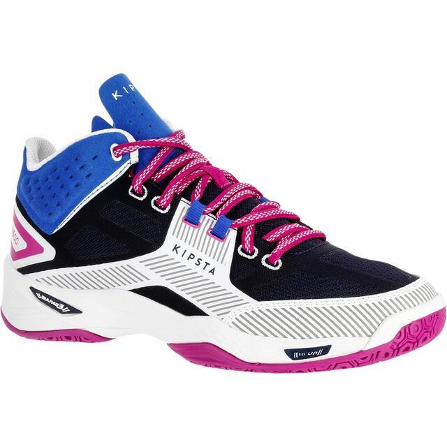 Zapatillas mujer azul blanco y rosa Decathlon