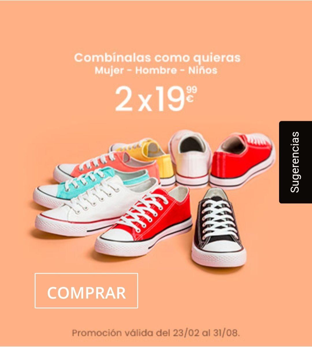 Oferta por la compra de 2 pares de zapatillas