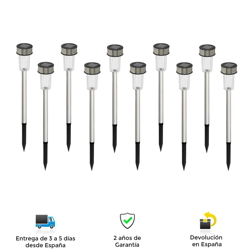 Faroles solares LED, 10 unidades, Grundig,