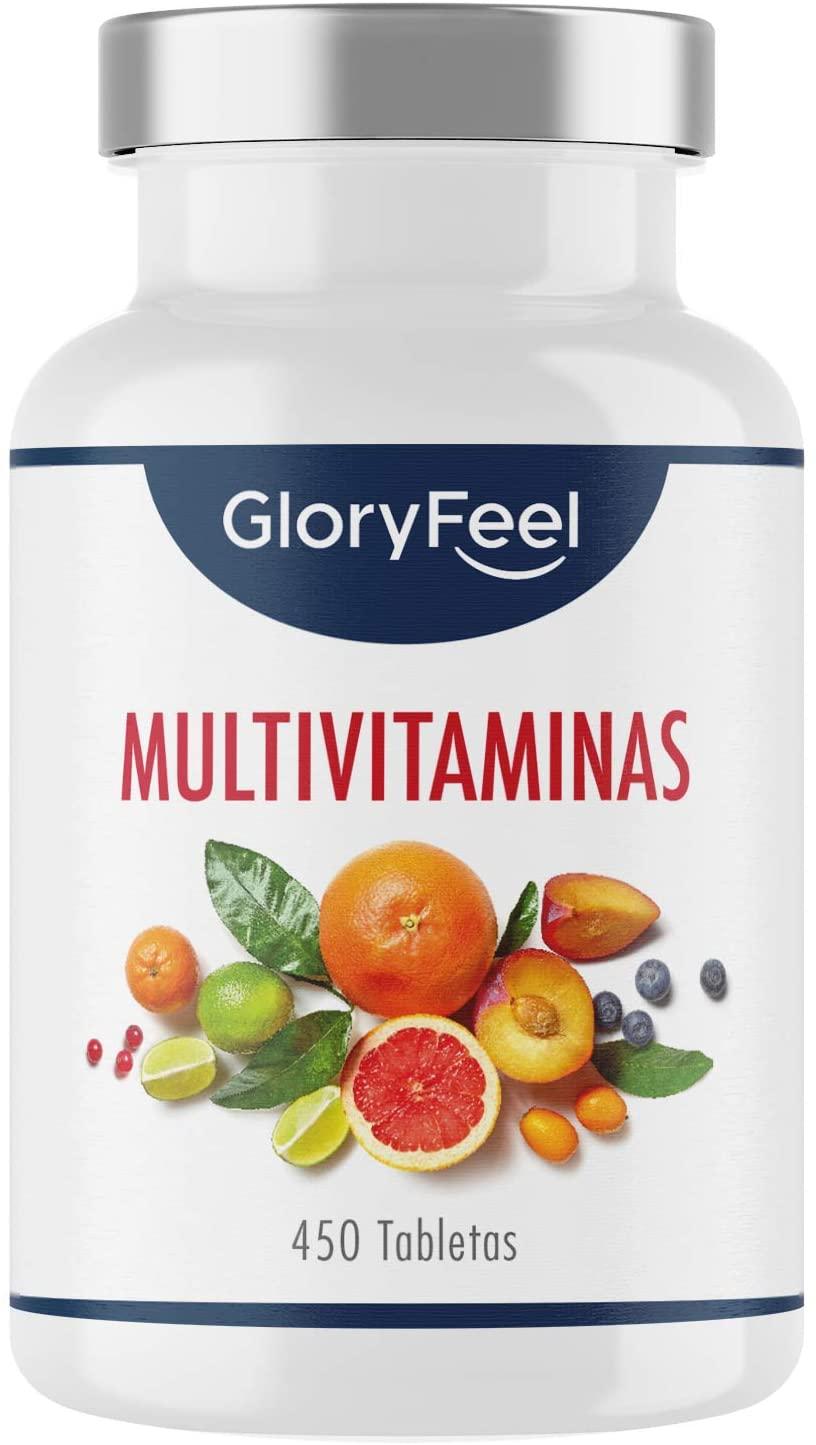 Multivitaminas y Minerales 450 cápsulas GloryFeel