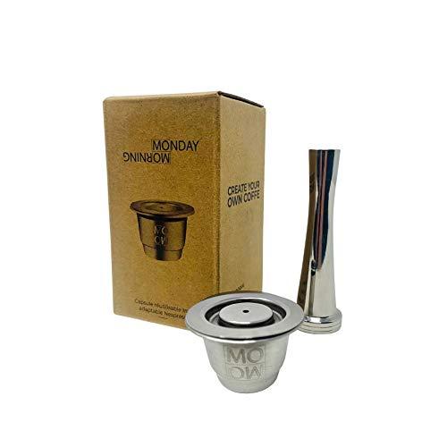 Cápsula reutilizable de acero inoxidable compatible con Nespresso