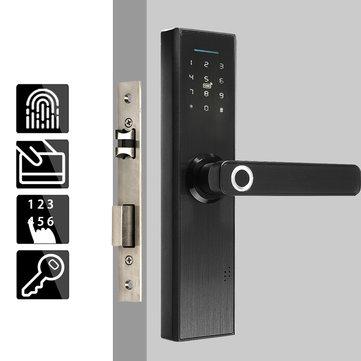 Cerradura de puerta inteligente electrónica -Huella digital - Tarjeta inteligente