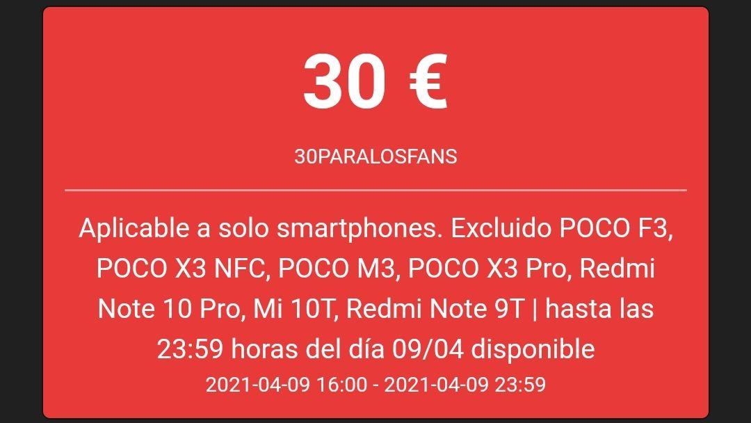 Cupón de 30€
