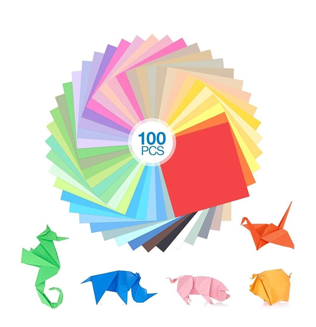 Papel 100 Hojas Origami,15x15cm Doble Cara,Papiroflexia,Folded Square,DIY