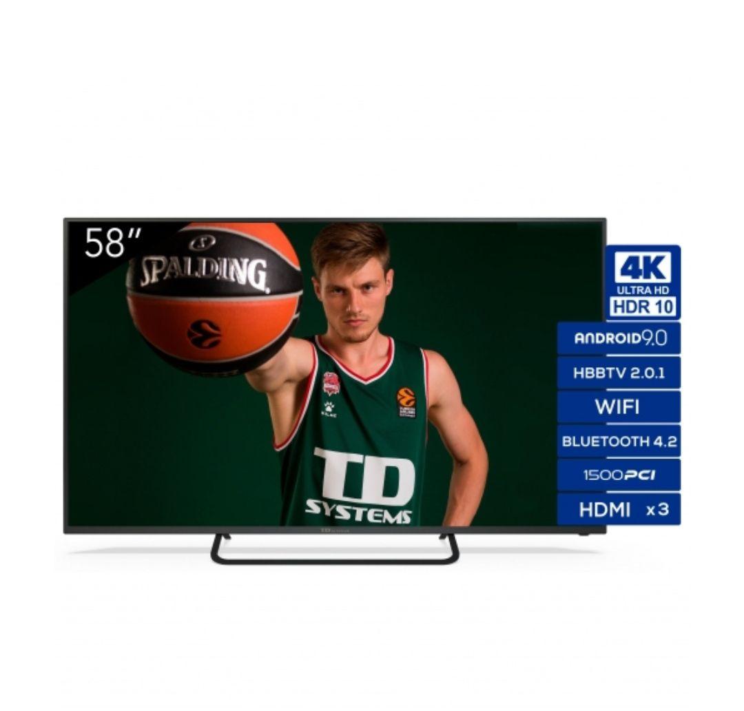 "TV LED 147,32 cm (58"") TD Systems K58DLX11US, 4K UHD, Smart TV"