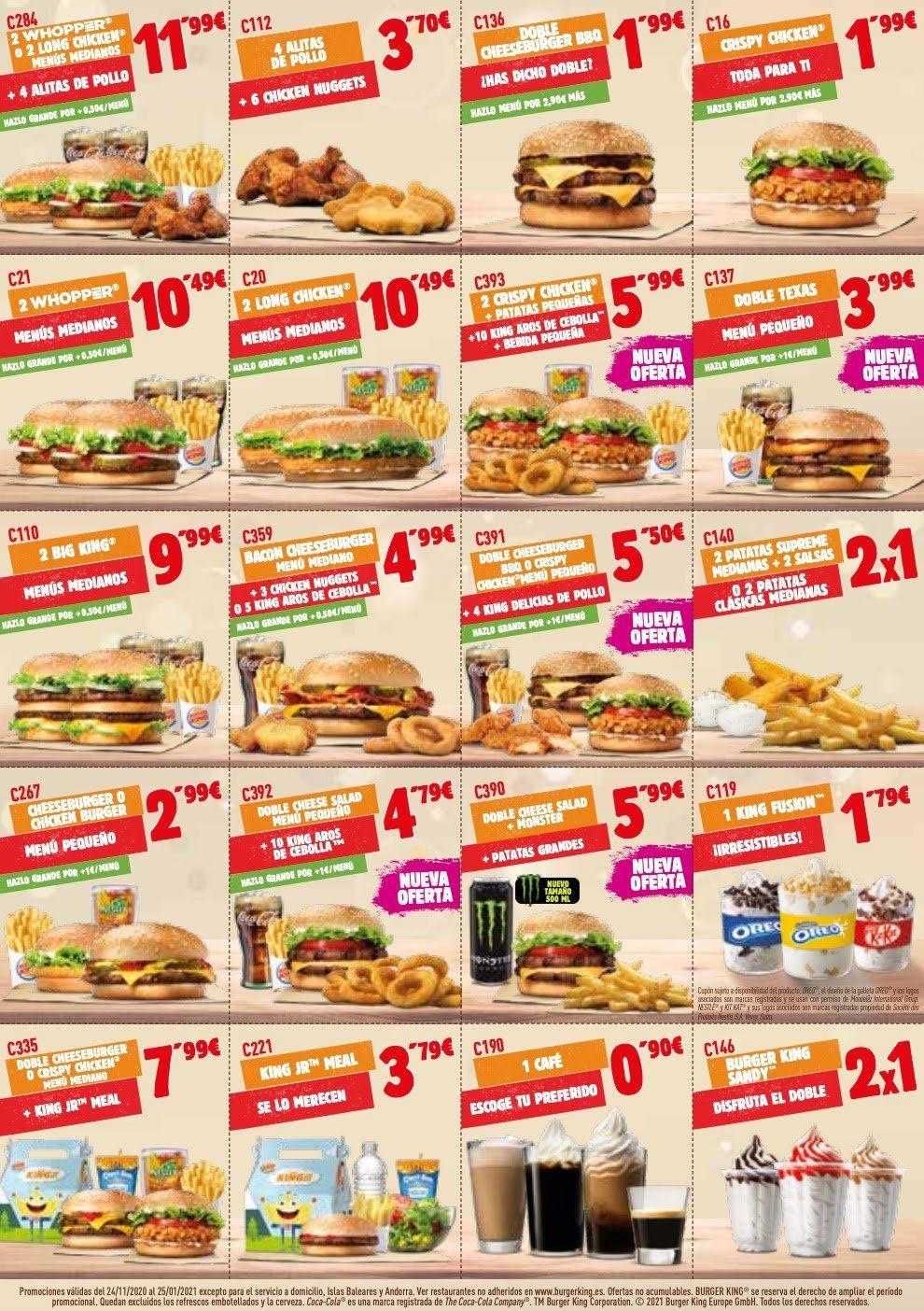 Códigos de descuento Burger King [Actualizado a abril 2021]