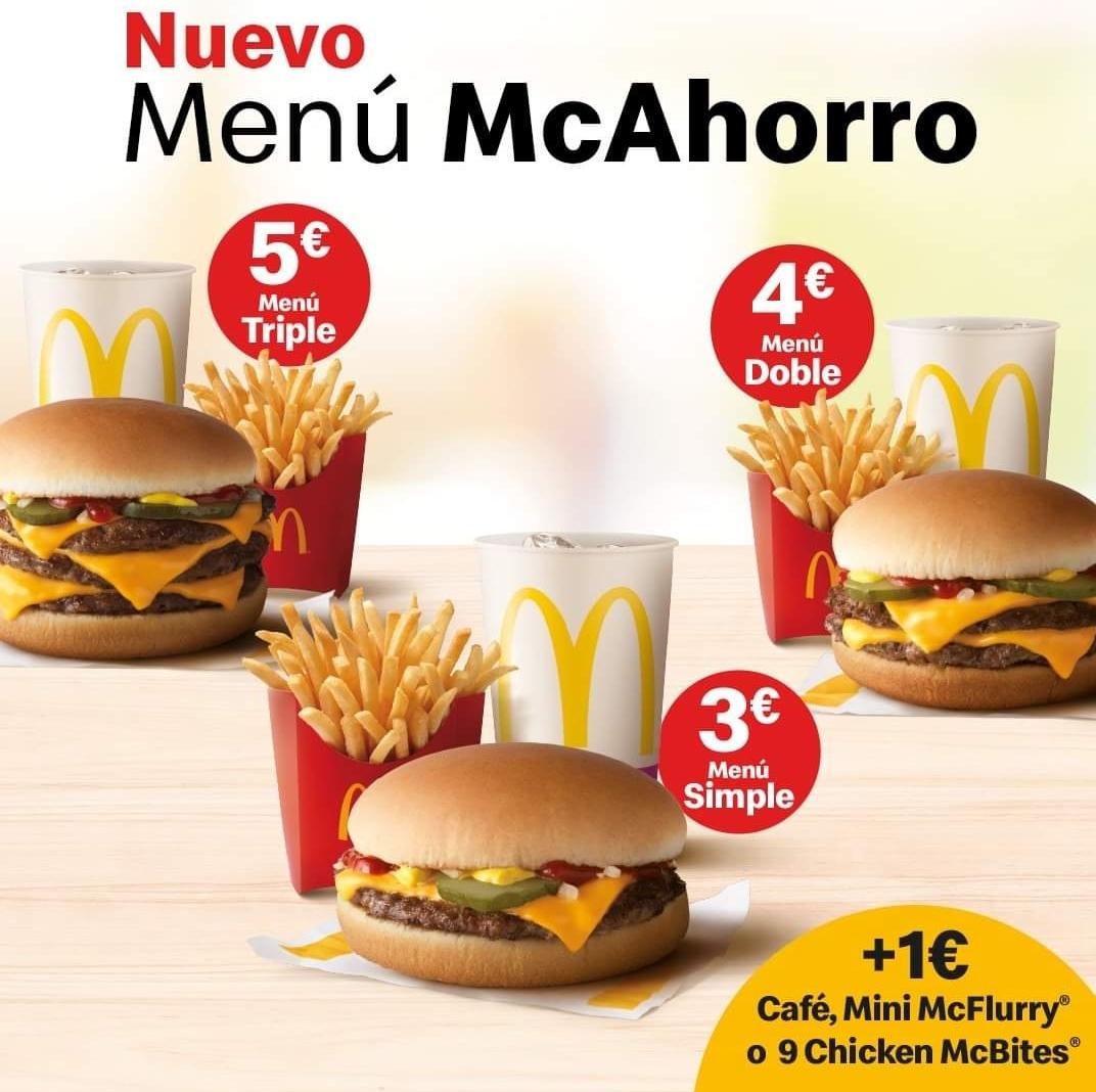 Nuevos menús McAhorro en McDonald's
