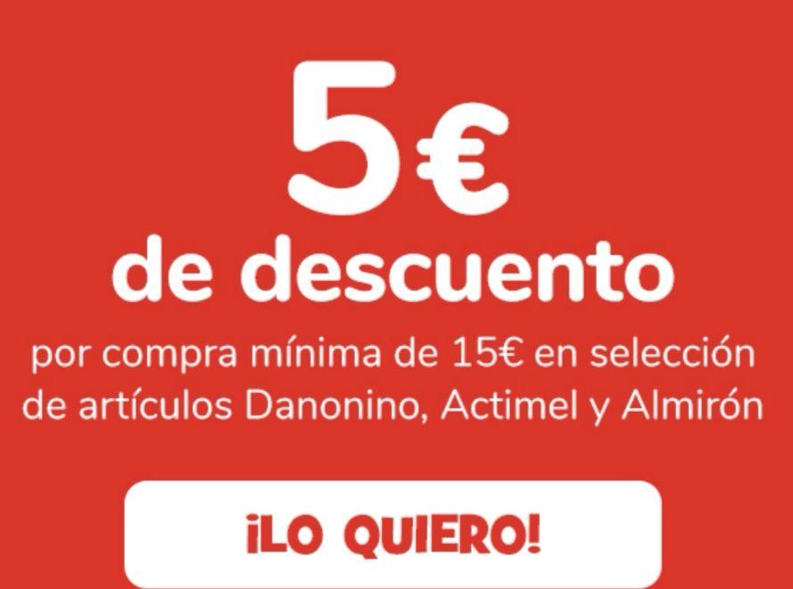 5€ de descuento x compra de 15€ en artículos Danonino, Actimel y Almirón