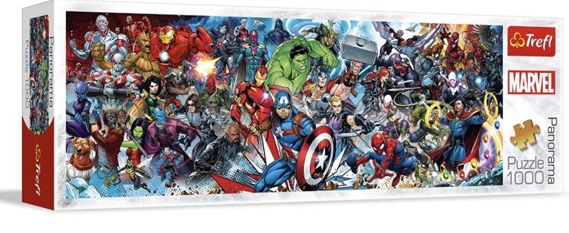 Trefl- Puzzles 1000 Panorama Marvel