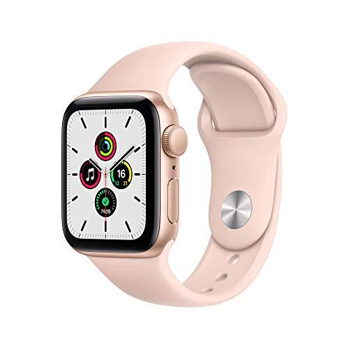 Apple Watch SE (GPS, 40 mm) Caja de Aluminio en Oro - Correa Deportiva