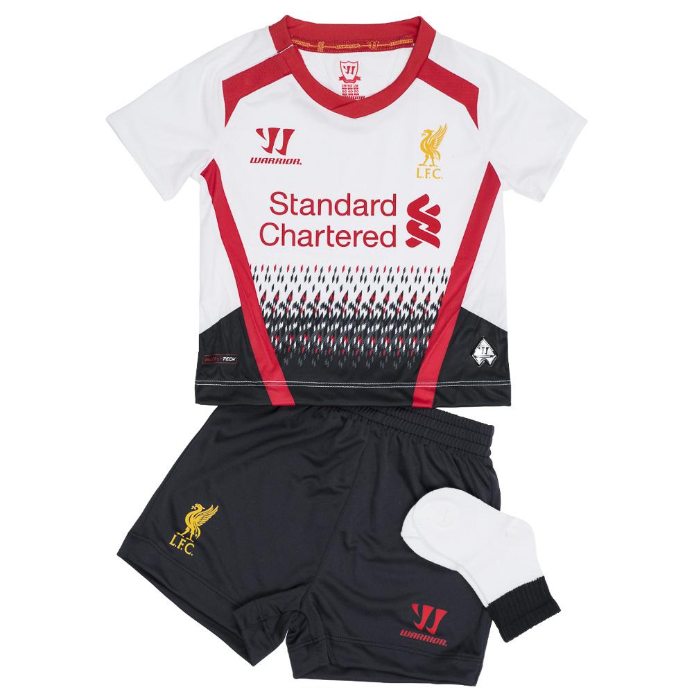 Liverpool FC Warrior Bebé Mini Kit Conjunto de fútbol segunda equipación