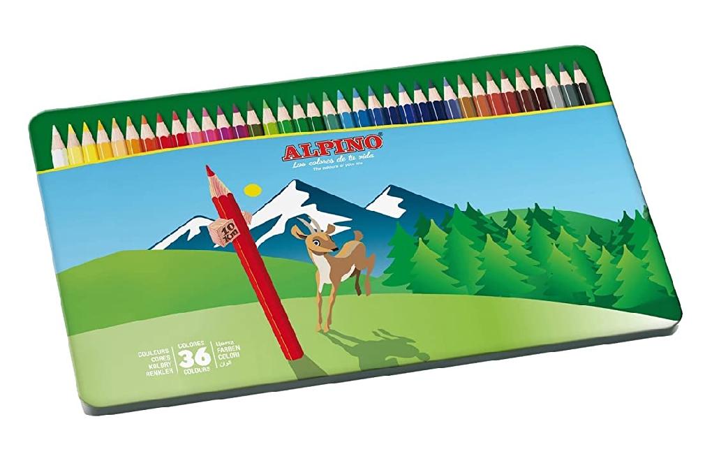 Estuche metálico de 36 pinturas Alpino