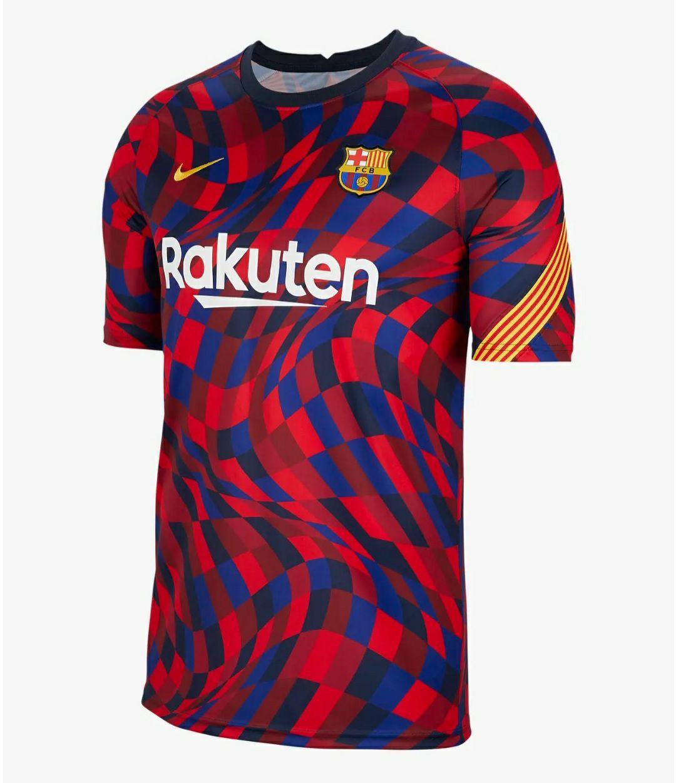 Camiseta calentamiento Barça