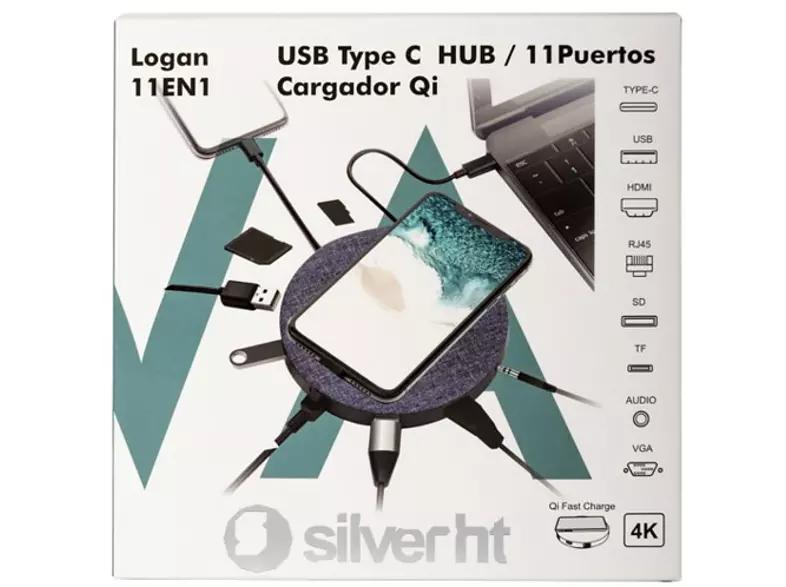 Hub Silver HT 11 en 1 tipo C solo 49.9€