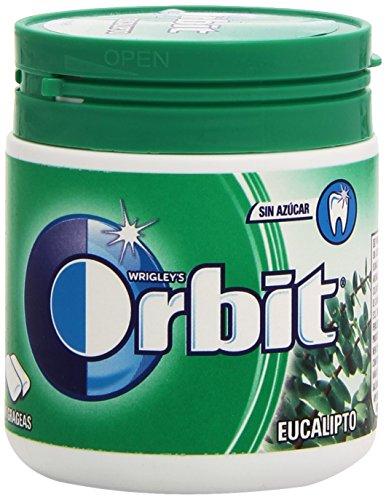 Orbit Chicle sin Azúcar, Eucalipto, Pack de 60 Unidades