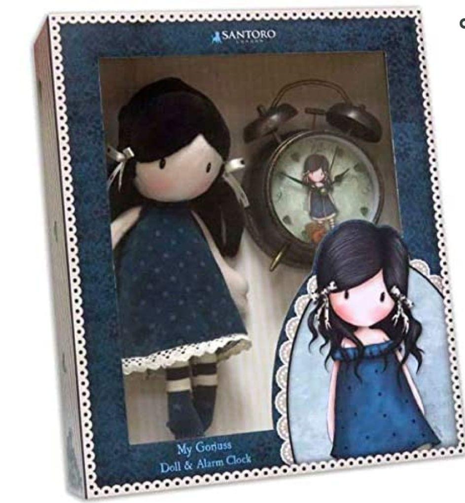 Set regalo muñeca y despertador Gorjuss