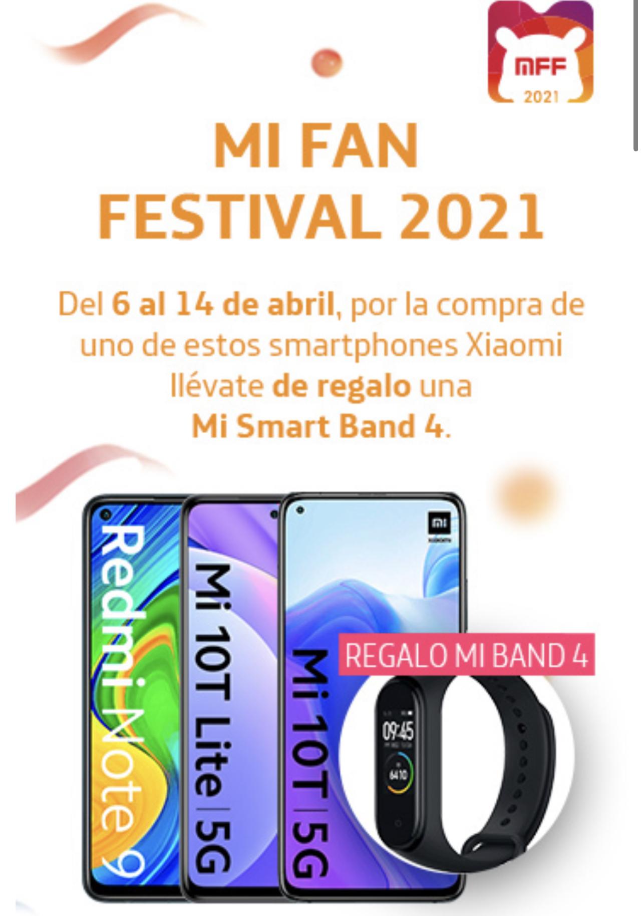 Regalo mi band 4 con móviles (en oferta) Xiaomi Movistar