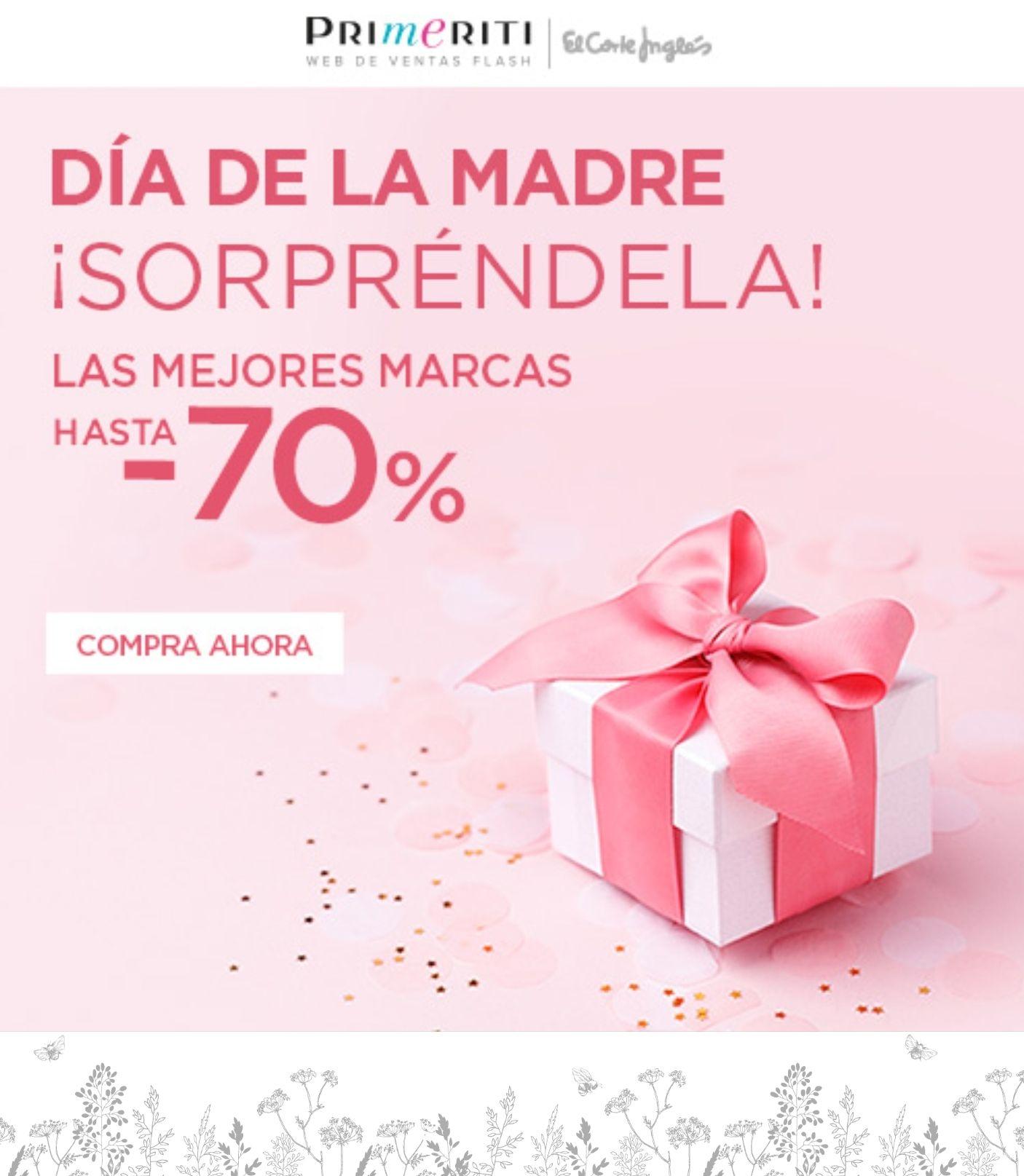 Hasta -70% dto en grandes marcas y envío gratuito ¡Más fácil no se puede! Primeriti....El corte Inglés